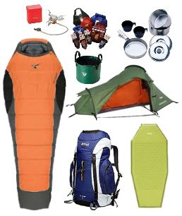 Outdoor Camping and Hiking Gear